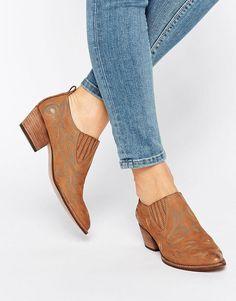 Image 1 of Dolce Vita Samson Nubuck Western Heeled Shoe Boots at asos