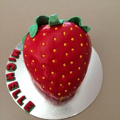 Strawberry shaped cake strawberry cake