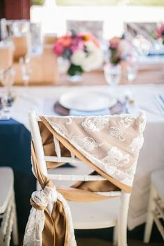 Innovative ways to tie your #wedding chair backs / sashes