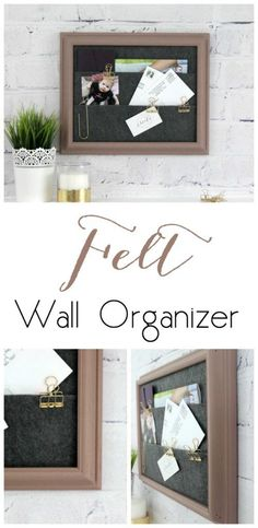 DIY Felt Wall Organizer - love this quick DIY! Stylish home organization idea.
