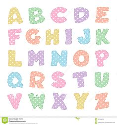 Alphabet With Pastel Polka Dots - Download From Over 57 Million High Quality Stock Photos, Images, Vectors. Sign up for FREE today. Image: 12754212