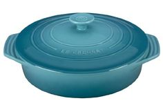 Le Creuset Stoneware Covered Round Casserole, 9.5-Inch, Caribbean ** Awesome product. Click the image at  : bakeware