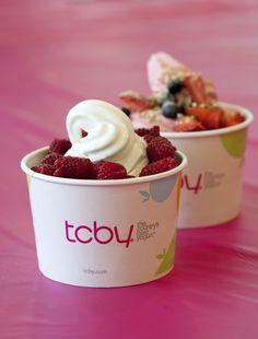 TCBY frozen yogurt!