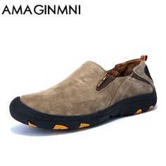 79d25b7f3 AMAGINMNI winter shoes men Casual leather shoes 2018 New Fashion shoes Keep  your feet warm men loafers moccasins High quality-in Men s Casual Shoes  from ...