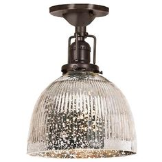 Modern Mercury Glass Restoration Ceiling Light