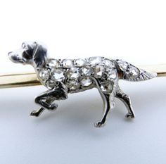 Antique Brooch Victorian Dog Diamonds 14k Gold Platinum Retriever Pointer (#5895) by BestOldJewelry on Etsy https://www.etsy.com/uk/listing/265414021/antique-brooch-victorian-dog-diamonds