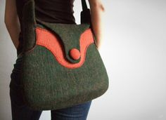 dmoss by OS  felted handbag by Onstail on Etsy, $152.00