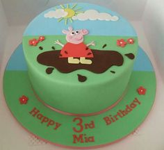 Peppa Pig cake 2 Birthday Cake, Happy Birthday, Birthday Ideas, Pig Party, Peppa Pig, Cakes, Desserts, Kids, Party Ideas
