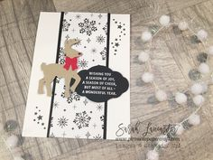 Clean and simple Christmas card using Stampin' Up! products | Sarah Lancaster