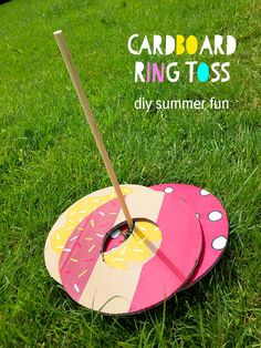 A recycled summer craft and game for kids. By Michelle McInerney of MollyMooCrafts.com, brand ambassador for fab® Ice Cream's new Sprinkles of Imagination campaign.