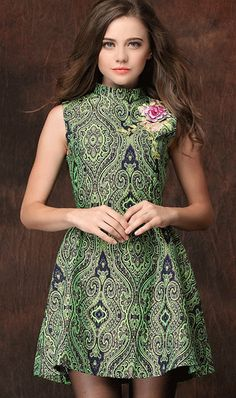 Love this embroidery jacquard dress,it inspires me a romantic mood.Find it here http://www.ahaishopping.com/ahaishopping-11602-Three+dimensional+embroidery+jacquard+dress.html