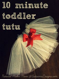 Quick and easy-sew 10 minute toddler tutu. Just in time for Valentine's Day parties! #allyouneedislove