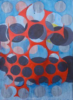 Dialtone, MM Painting on Lennox fine art paper, 22 x 30 inches, Marie Kazalia, 2013