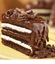 Chocolate, cream, chocolate, cream, chocolate and more #chocolate.