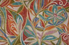 Mill Creek Raymond Waites Cutler-Terrace Printed Polyester Outdoor Fabric in Circus $8.95 per yard
