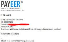 Preuve de paiement Kingways 29.01.2017 ( Paying)