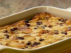 Rum Raisin Bread Pudding recipe from Patrick and Gina Neely via Food Network. This recipe is very easy and yummy. I used homemade raisin bread and added two extra tablespoons of rum. Panettone Bread Pudding, Raisin Bread Pudding, Bread And Butter Pudding, Bread Puddings, Jamaican Bread Pudding Recipe, Banana Pudding, Pudding Recipes, Sauce Recipes, Bread Recipes