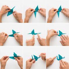 origami facile - comment faire une grue-en papier tuto