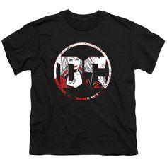 Batman DC Logo Harley Quinn Kid's Black T-Shirts