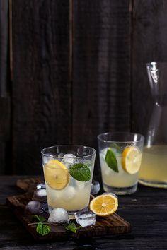 ♂ food and drink art honey ginger lemonade