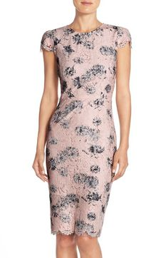 Betsey Johnson Floral Lace Sheath Dress available at #Nordstrom