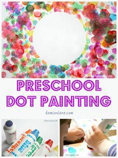 Preschool Dot Art Activity inspired by The Dot by Peter H. Reynolds from damsonlane.com