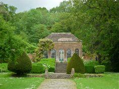 The orangery, built around 1793, in the gardens of eighteenth century Ammerdown…