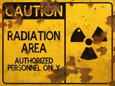 Radiation Area THICK Sign - Can anyone say bathroom decor?