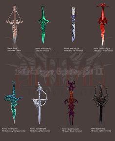 Anima: Bella's Daggers set 2 by `Wen-M on deviantART