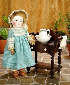 Jules Nicholas Steiner (1832-1902) — 14'' Bisque Child Doll in Antique Costume,  c.1877  (700x581)