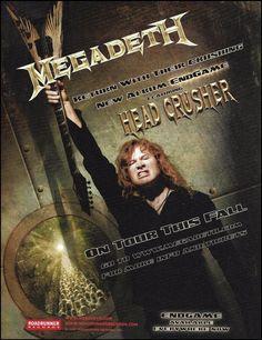 Megadeth 2009 Endgame 8 x 11 ad Dave Mustaine Angel of Deth Dean Guitar Black Acoustic Guitar, Prs Guitar, Derek Trucks Band, Vic Rattlehead, Marty Friedman, Vinnie Paul, David Ellefson, Dean Guitars, Jackson Guitars