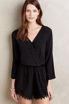 Lace-Trimmed Romper #anthropologie