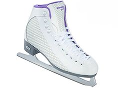 Riedell 113 2015 Model Figure Skates Sparkle (White/Violet, 8)