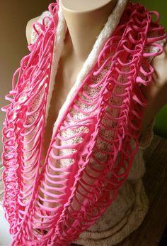 T-Shirt Scarf - Hot Pink - Ribcage Style serendipitybylauren.etsy.com