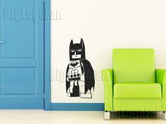 Gotham City Batman inspired Detailed Vinyl Wall by BigLegoFan for Shaney's Batman bedroom Batman Bedroom, Lego Bedroom, Kids Bedroom, Pirate Bedroom, Kids Rooms, Bedroom Ideas, Bedroom Decor, Boys Room Decor, Kids Decor