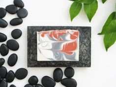 """Mystical Oriental Soap is a homemade, cold process, artisan soap with an incense like aroma. Notes of precious opoponax, myrrh, sandalwood, and blooming flowers make an appealing scented soap for everyone.  Weight: 5 oz (140 g) Dimensions: 3.5"""" L x 1"""" W x 2.5"""" H"""