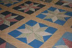 Vintage Quilts Series #3:  Great Great Grandmother Dianthas Quilt--LeMoyne Star.  Great links for more on this traditional star pattern