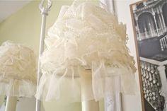 Making A Lace Lampshade...the Polka Dot Closet