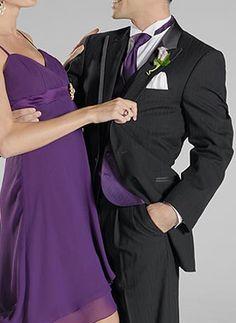 groom groomsmen tux ideas on black tux purple