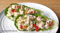 Gourmet Girl Cooks: Quick & Easy Chicken Salad Cups - Low Carb Made Simple