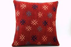 16x16 Vintage Hand Woven Turkish Kilim Pillow   Old by GalenUnique, $39.00