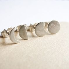 handmade Moon Phase Earrings Set, $35