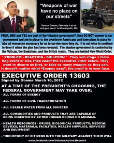 Link goes to Executive Order 13603 info and a history of Presidents' use of executive orders from Forbes - very interesting. Many Presidents have actually had similar orders to this. I think this is an example of more propagandist fear-mongering, but still interesting info that our government has basically had this power to take whatever they want from us for a long time!