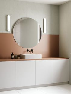 Diy bathroom ideas 284571270190862975 - Salle de bain rose terracotta Source by gimmeshelter_ Interior Design Minimalist, Minimalist Decor, Minimalist Kitchen, Minimalist Bedroom, Minimalist Style, Minimal Bathroom, Modern Bathroom, Bathroom Pink, Small Bathroom