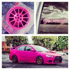 Pink Lancer Evolution @Chad Cribbins Cribbins Delong