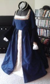 tudor gown finished