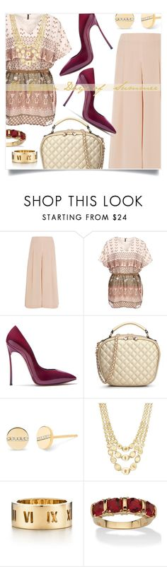 """The Golden Days of Summer: The Handbag Maven Competition"" by captainsilly ❤ liked on Polyvore featuring TIBI, Casadei, EF Collection, Marco Bicego, Tiffany & Co. and Palm Beach Jewelry"