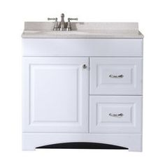 Style Selections Emberlin White Integrated Single Sink Bathroom Vanity With Solid Surface Top Common 25 In X 19 Actual 24 5 18 75