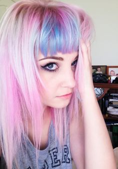 Which hair color is best for fair skin? Find your answer in our list of the most beautiful and best hairstyles and hair color ideas for fair skin. Color Fantasia, Corte Y Color, Bright Hair, Colorful Hair, Coloured Hair, Dye My Hair, Mermaid Hair, Crazy Hair, Hair Today