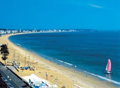 La Baule, Bretagne, France- longest sand beach in Europe